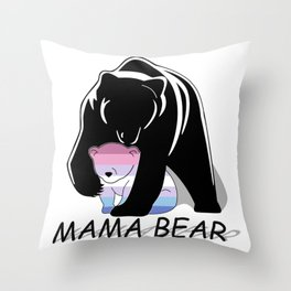 Mama Bear Bigender Throw Pillow