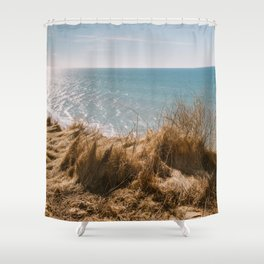 Scarp at Marup kirke in Lonstrup, North Jutland, Denmark Shower Curtain