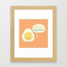 Most Eggcellent Framed Art Print