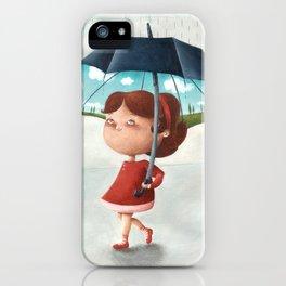 Happy umbrella iPhone Case