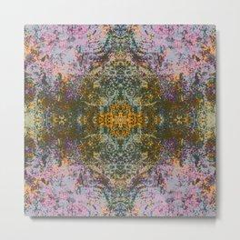 Gunguh - Abstract Decorative Boho Chic Tie-Dye Style Art Pattern Metal Print