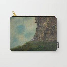 Old Man in the Mountain, Franconia Notch, White Mountains New Hampshire landscape painting Carry-All Pouch