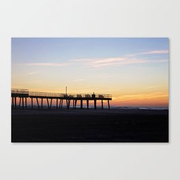 Fishing Pier Sunrise Canvas Print