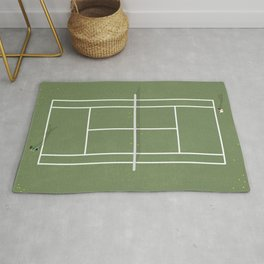 Tennis Court From Above | Illustration  Rug