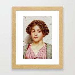 a girl with a pierced nose Framed Art Print