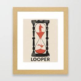 Looper Framed Art Print