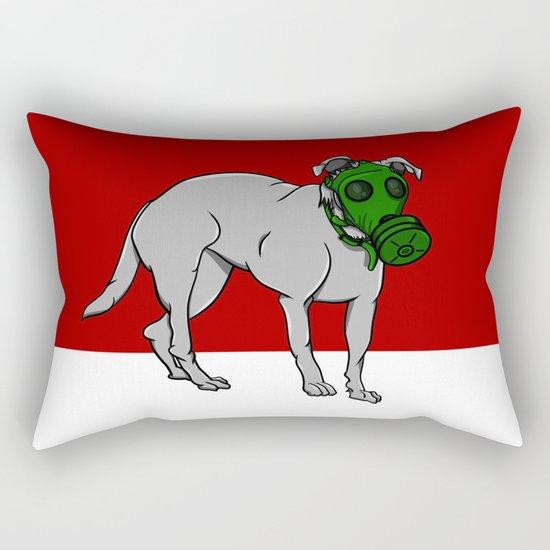 Dog Wearing A Gas Mask Rectangular Pillow