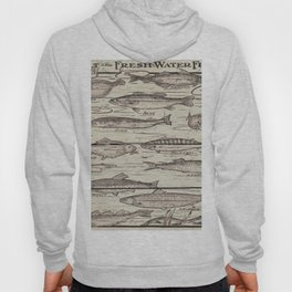 father's day fisherman gifts whitewashed wood lakehouse freshwater fish Hoody