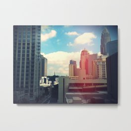 Looking Over The City. Metal Print