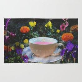 Flowers and Tea in Wonderland Rug
