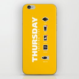 THURSDAY - The Hitchhiker's Guide to the Galaxy Packing List iPhone Skin