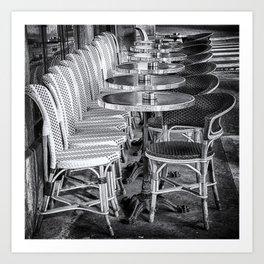 Parisien Tables B&W Art Print