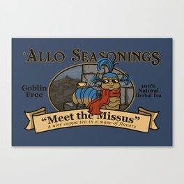 Meet the Missus Tea Canvas Print