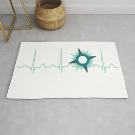 Immunologist Heartbeat Rug