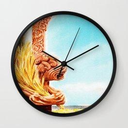 Vintage Foggia Italy Travel Poster Wall Clock