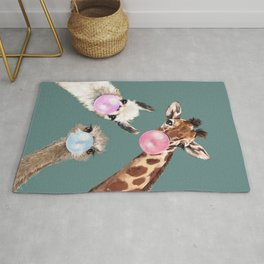 Bubble Gum Gang Dark Green Rug