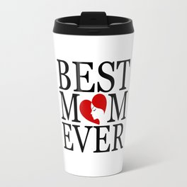 Best mom ever with face of a mother forming a heart- mothers day gifts for mom Travel Mug