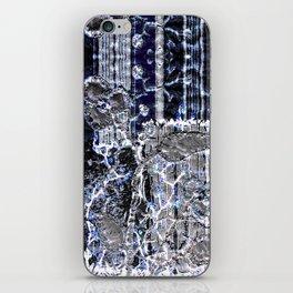 Winter night garden iPhone Skin