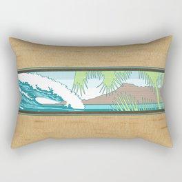 Ala Moana Diamond Head Hawaiian Surf Sign Rectangular Pillow