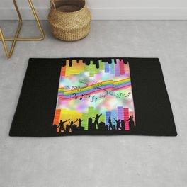 Colorful Musical Theme Rug