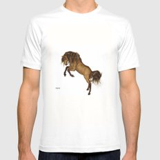 HORSE - Gypsy Mens Fitted Tee White MEDIUM