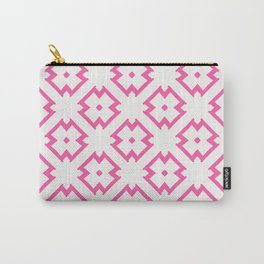 Abstract Pink Daisies Carry-All Pouch