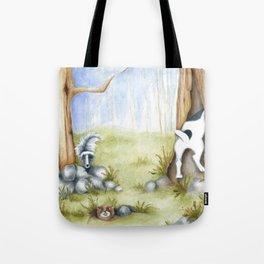 Hide and Seek Dog Original art Jack Russell Terrier JRT painting Tote Bag