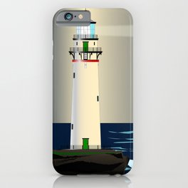 Lighthouse Night Background iPhone Case