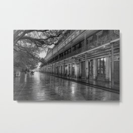 New Orleans, French Quarter, Jackson Square black and white photograph / black and white photography Metal Print
