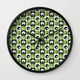 Circles within a Circle - Green Wall Clock