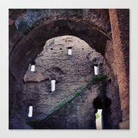 laputa Canvas Prints featuring From Roma to Laputa by Guillaume '96' Bonte