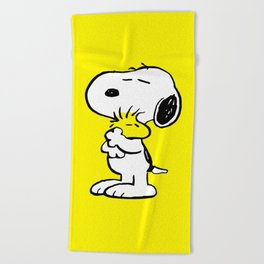 Snoopy and Woodstock Beach Towel