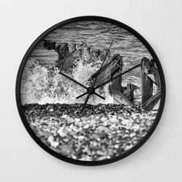 Crashing waves on the beach Wall Clock
