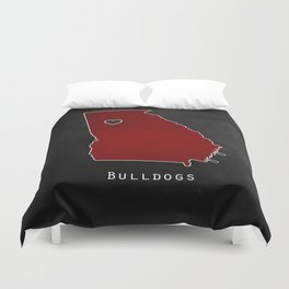 Red and Black Duvet Cover