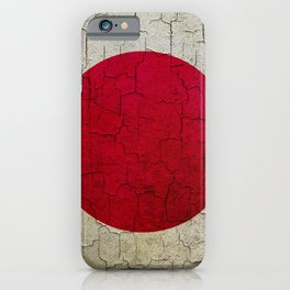 Grunge Japan flag iPhone Case