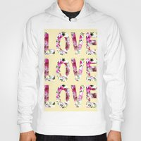 all you need is love Hoodies featuring ALL YOU NEED IS LOVE by Artisimo
