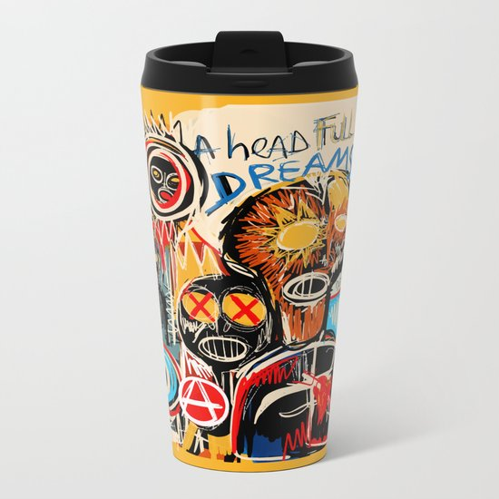 Head full of dreams Metal Travel Mug