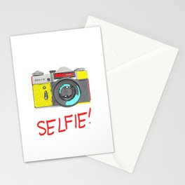 Pop Art Vintage Camera Stationery Cards