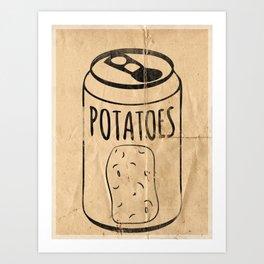 Vintage Potato Soda Art Print