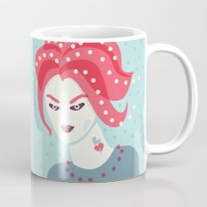 Portrait Of A Girl With Pink Hair Mug