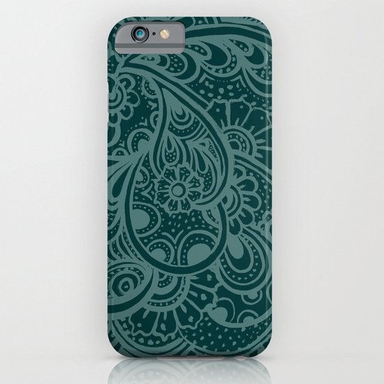 Teal Paisley iPhone & iPod Case