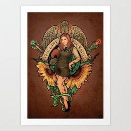 The Girl Who Waited Art Print