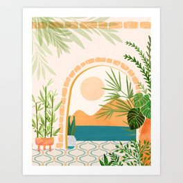 Baja California Villa Art Print