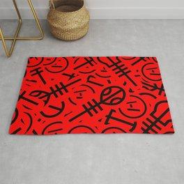 TØP Stickers - Red & Black Rug