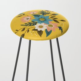 Flowers Counter Stool