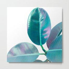 Ficus Elastica Iridescent Glam #1 #tropical #foliage #decor #art #society6 Metal Print