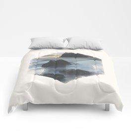 Minimalist Travel Poster - Baja California Sur, MX Comforters