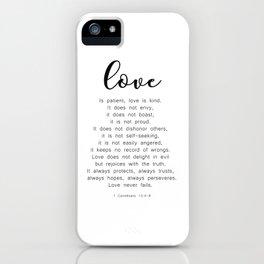 Love Never Fails #minimalism iPhone Case