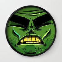 zombie Wall Clocks featuring Zombie by Terry Mack
