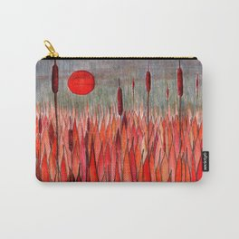 Sunset Over the Cattail Field Carry-All Pouch